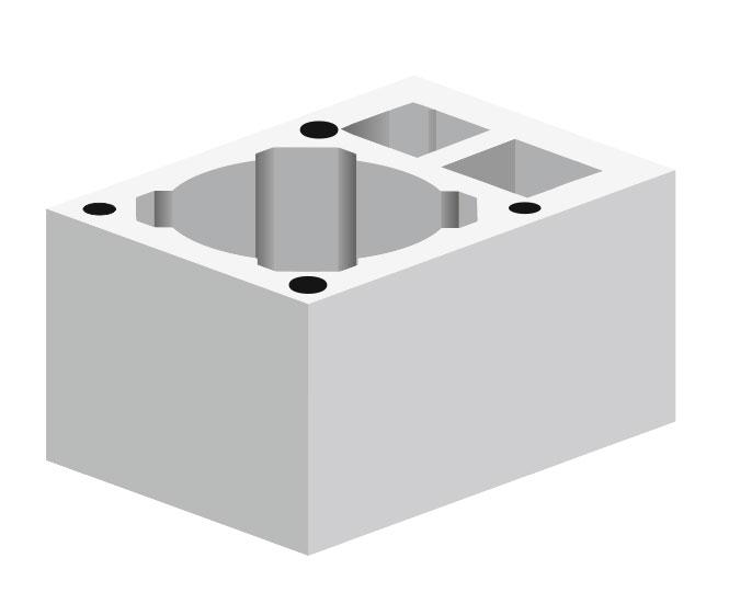 Керамзитобетонный блок S2W