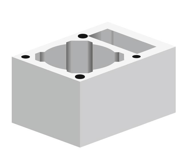 Керамзитобетонный блок SW